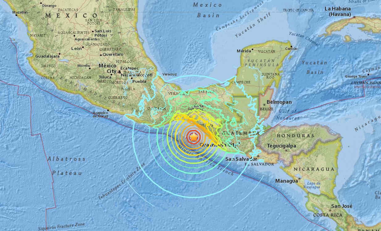 usgs Mexico 地震